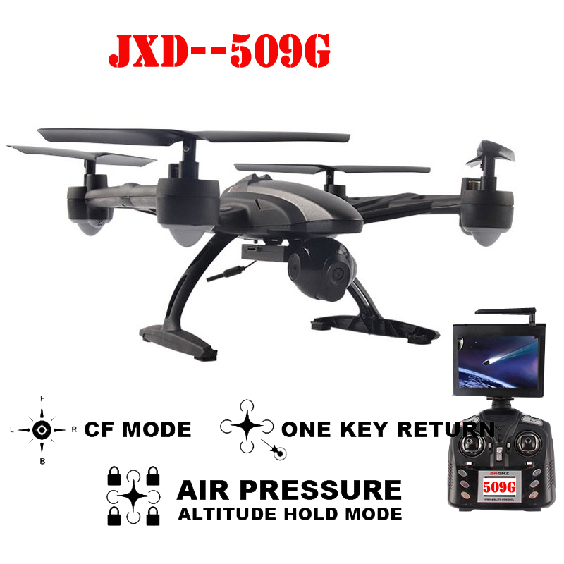 JXD 509G JXD509G 5.8G FPV One-Key-return & Take Off Barometer Set High RC Quadcopter with HD Monitor RTF jxd 509w wifi fpv rc quadcopter rtf 2 4ghz with camera headless mode one key return christmas gift jxd 509 wifi version