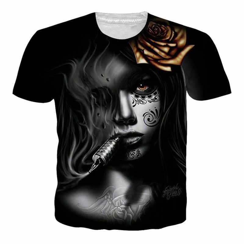 8a81d530430 Punk Gothic Rock Style T Shirt Women Men Summer Short Sleeve Shirts GUNS N  ROSES Skull