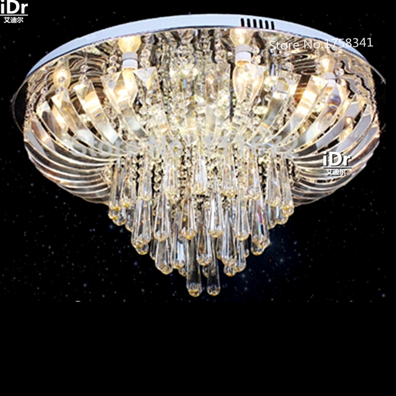 New modern Lamps round crystal LED lights Bedroom lamp Hall Ceiling Lights High-grade light LED energy-saving lamps 90-260V