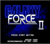 Galaxy Force 2 - 16 bit MD Games Cartridge For MegaDrive Genesis console