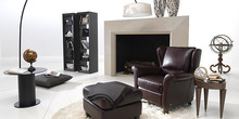 unique designer modern style top graded cow genuine leather chair/ living room home furniture brown color unique post modern style top graded cow real leather ottoman stool living room home furniture round shape crystal buttons