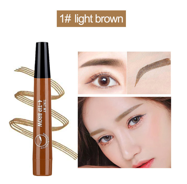 Microblading Eyebrow Pen Waterproof eyebrow shaping Eyebrow Tattoo Pencil henna eyebrow easy wear eye makeup Liquid Eye Brow Pen 2