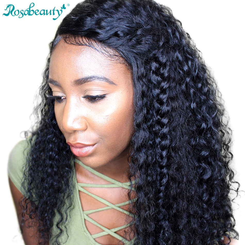 Rosa Beauty 180 Density 360 Lace Frontal Wigs Deep Wave -4010