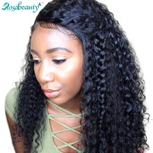 Rosa Beauty 180% Density 360 Lace Frontal Wigs Deep Wave For Black Women Pre Plucked Lace Wig 100% Human Remy Hair Products