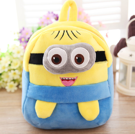 22 20cm minion plush backpack minion school bag for kids minion plush animal backpack for kids