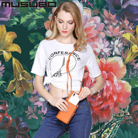 Musubo Cases For Samsung Galaxy S9 Plus S8 Plus S7 Edge Fashion Girl Woman Luxury Phone Messenger Mini Bag Wallet Cover for S6 5