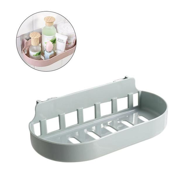 Non-trace Sticker Removable Wall Adhesive Shower Caddy Bathroom Shelves Storage Organization with Rack Basket for Shampoo Soap