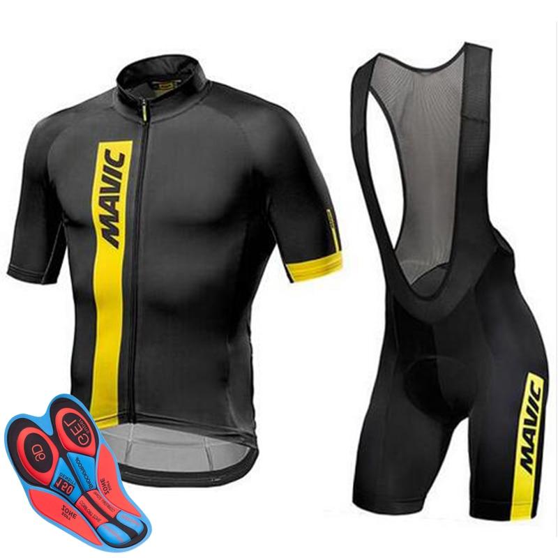 2019 mavic Desgaste Bicicleta MTB Ciclismo Roupas Ropa ciclismo Bicicleta Ciclo uniforme camisa De Corrida de Ciclismo Jersey Terno