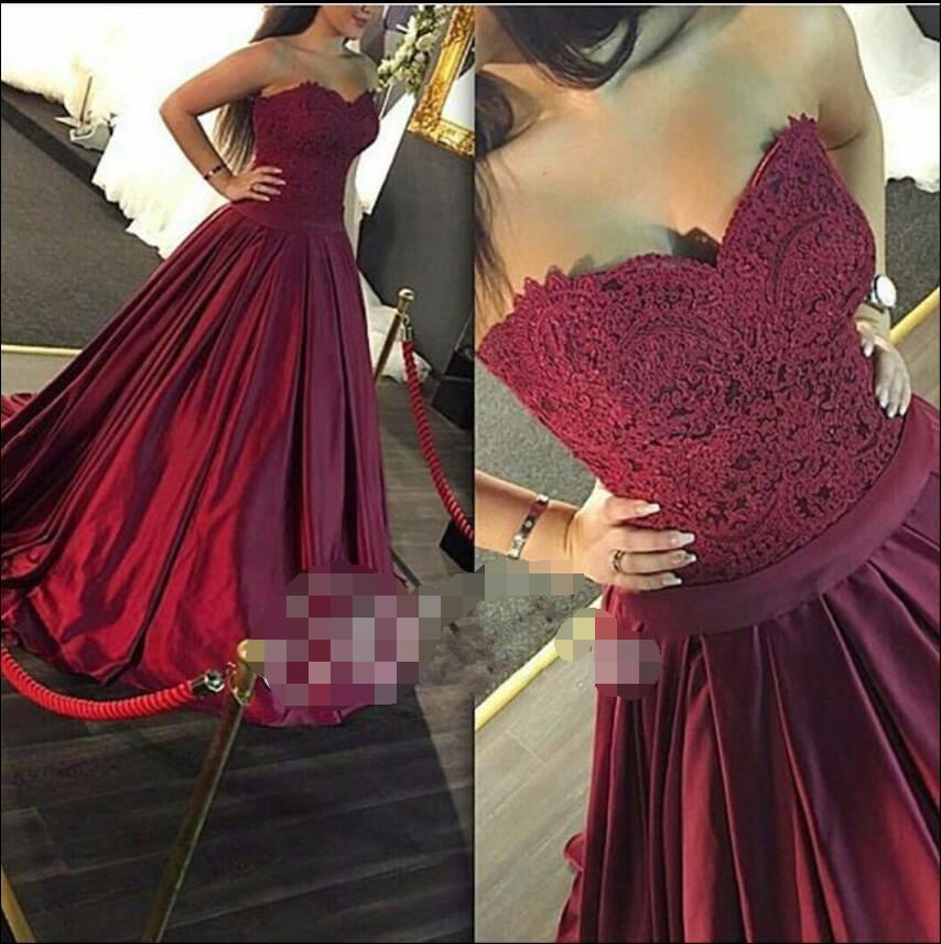 Non White Wedding Dresses: Vintage Burgundy Satin Gothic Wedding Dresses 2019