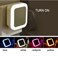 Creative Plug Socket Automatic Energy Saving Nightlight Light Sensor Control LED Wall Night Light Indoor Bedroom Decoration Lamp