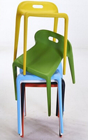 Household Eat Chair Contracted Plastic Chairs Reception Chair Stool Dining Room Chair
