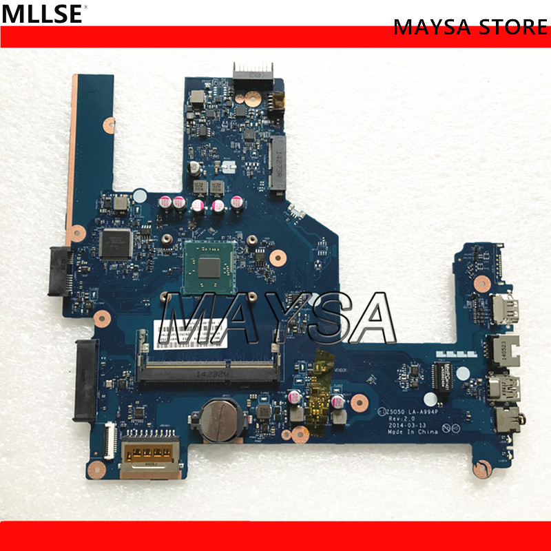 764103-501 764104-501 fit for HP Compaq 15 15-R 15T-R 15-s laptop motherboard 764103-001 ZS050 LA-A994P Mainboard 100% tested nokotion zso50 la a994p 788289 501 788289 001 for hp compaq 15 15 r 15t r 15 s motherboard sr1yj n2840 cpu onboard