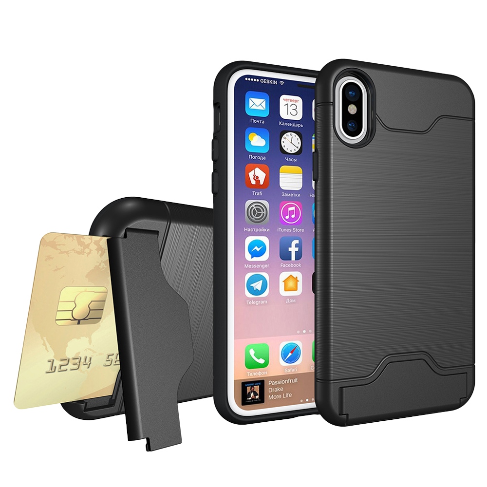 Heavy Duty Protection Shockproof Defender Wallet Case Card