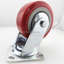 8 inch Double ball bearing PU/PVC caster wheel,Industrial heavy duty swivel caster, universal casters with brake цены
