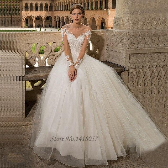 Brautkleider online langarm