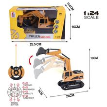 1:24 RC Excavator Remote Control Constructing Truck Crawler Digger Model Vehicles Electronic Engineering Truck Toys For Children huina 1510 rc excavator car 2 4g 11ch metal remote control engineering digger truck model electronic heavy machinery toy
