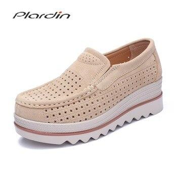 10d2f2675 Plardin/новые женские лоферы на плоской платформе; женские замшевые кожаные  мокасины с бахромой;