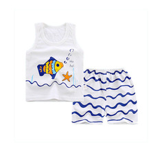 Cotton Pajamas for Boys and Girls 2 pcs Set
