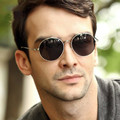 2017 Latest Fashion Retro Vintage Round Sunglasses Men/women Mirror Gafas Oculos Coating Luxury Brand Designer Sun Glasses UV400