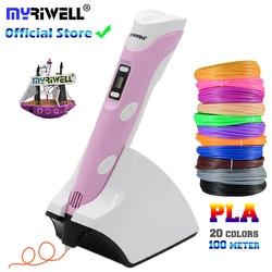 Myriwell Беспроводная зарядка низкая температура 3D Ручка PCL/PLA 4th 3d печать Ручка встроенный аккумулятор 1500 мАч лучший подарок для детей