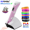myriwell wireless charging Low temperature 3D pen PCL/PLA 4th 3d printing pen Built-in 1500 mAh battery best gift for children