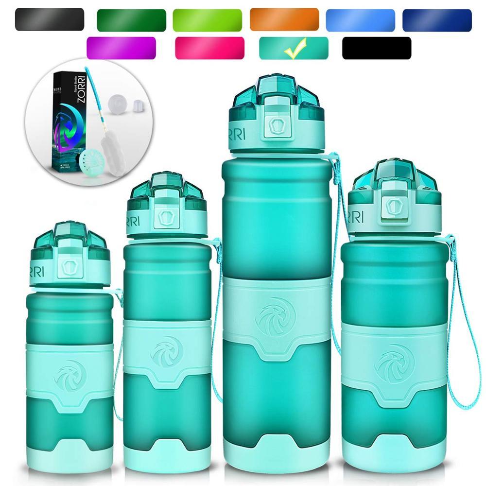 ZORRI New Shaker Sports Water Bottle Gourde Water+Bottles Fashion Bpa Free Portable Tourism And Camping Drink Bottle 1000 ml Бутылка