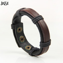 все цены на 24cm*2.8cm Men Jewelry Pirate Style Bronze Genuine Leather Bracelets Wholesale Cuff Braided Cuff Bracelet & Bangles Gifts PSL329 онлайн