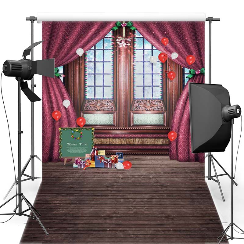 MEHOFOTO New Year Christmas Vinyl Photography Background Window For Children New Fabric Flannel Backdrop For Photo Shoot 6379 retro background christmas photo props photography screen backdrops for children vinyl 7x5ft or 5x3ft christmas033