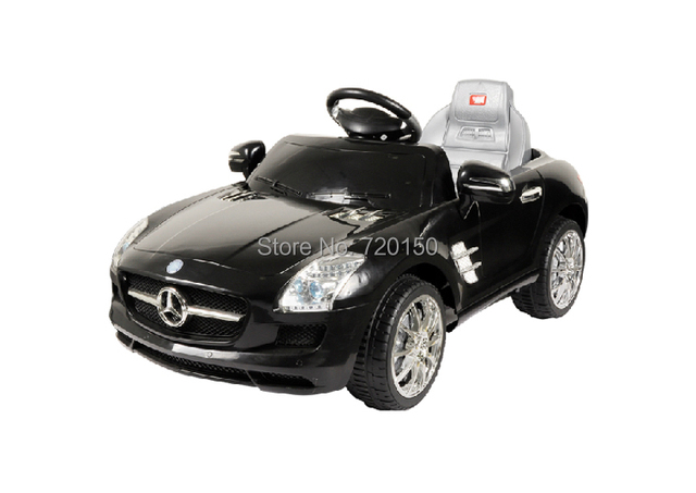 Mercedes Benz Carrier Baby Ride On Car Baking Varnish Red Silver