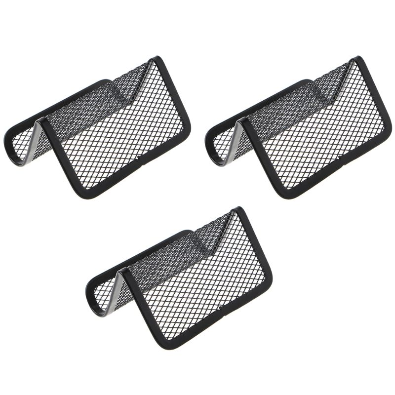 Metal Mesh Business Card Holder Stand For Desk Office Business Card Holders Mesh Collection Organizer