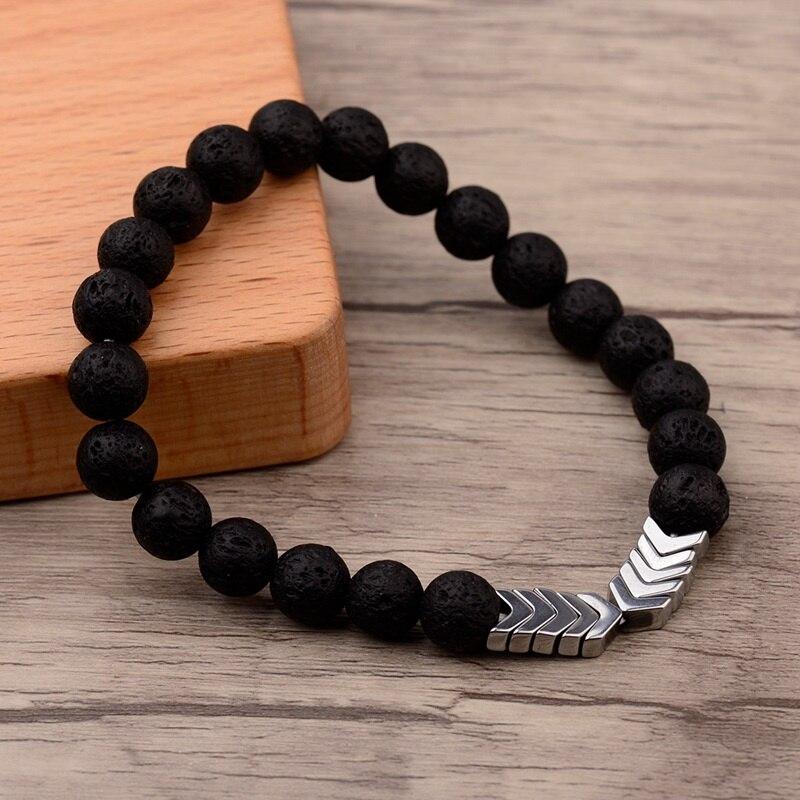 bracelet pierre de lave argent