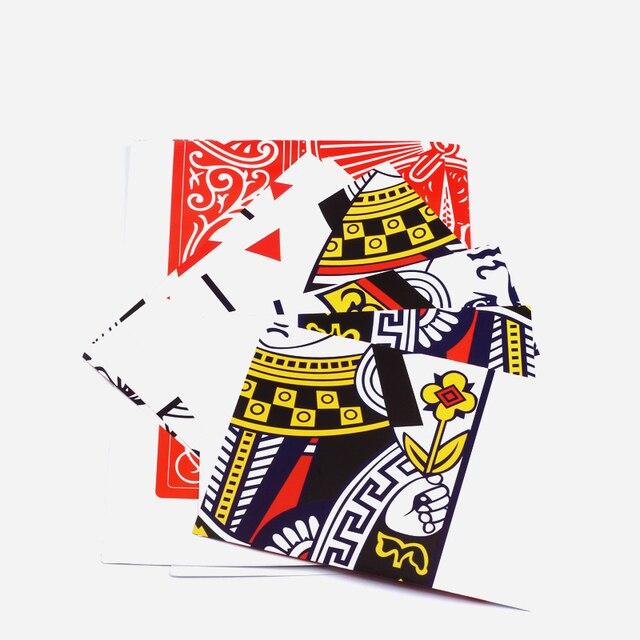 1 pièces reine restaurée gros plan carte Magie tour accessoires Magia scène rue magique accessoires carte magique Gimmick magicien outil