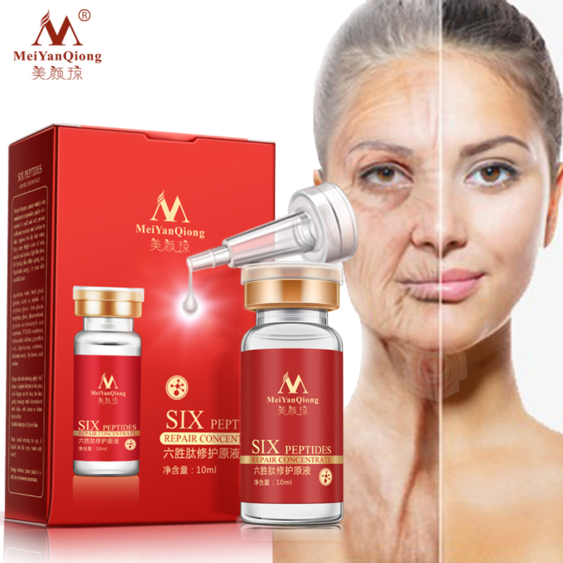 Argireline+aloe vera+collagen peptides rejuvenation anti wrinkle Serum for the face skin care products anti-aging cream 1pcs six peptides serum for striae anti wrinkle cream anti aging collagen rejuvenating face lift skin care