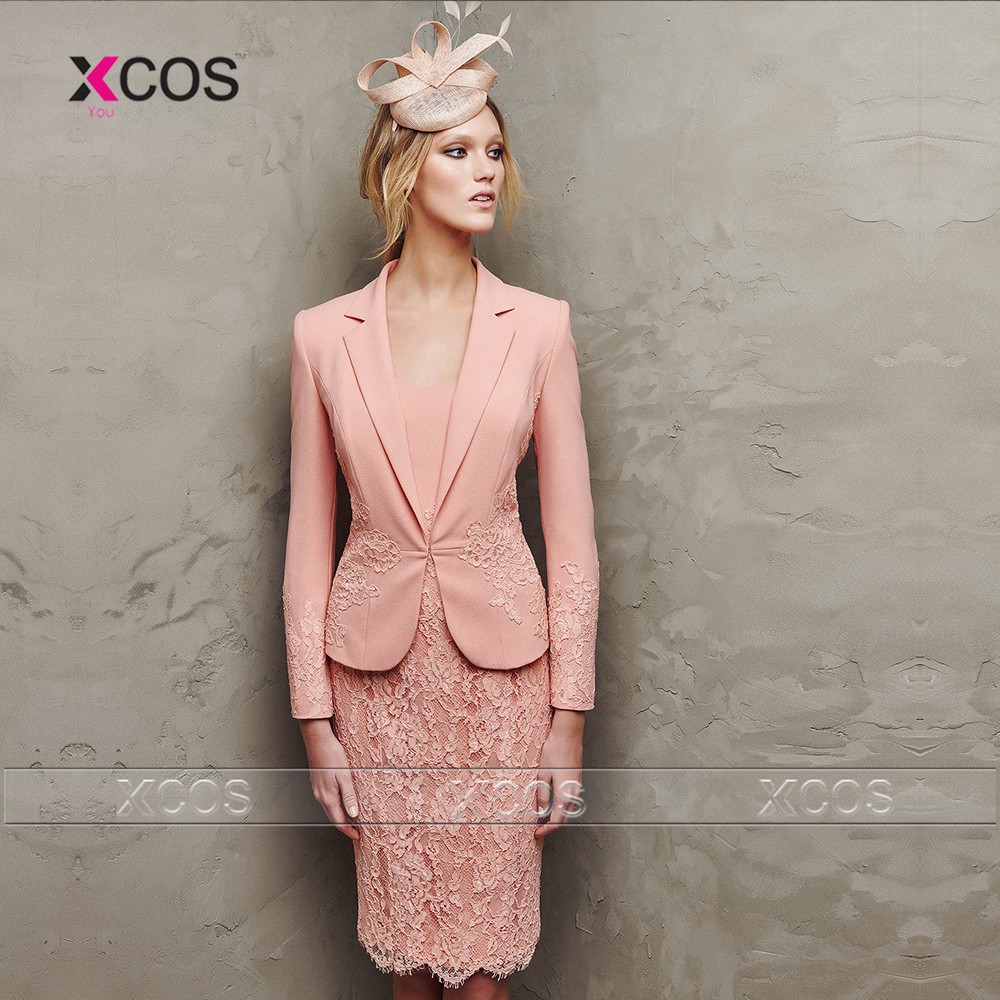 Women-Coral-Mother-of-the-Bride-Pant-Suits-2016-Short-Evening-Dresses-Gowns-with-jacket-for