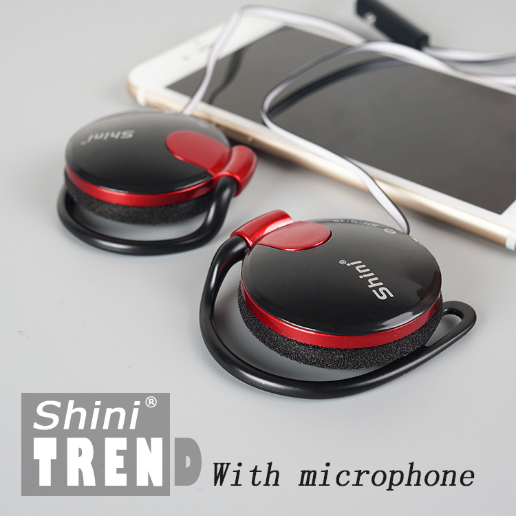 3.5mm Stereo ShiniQ140 Headphone Ear Hook Earphone For Mobile Phone Iphone Xiaomi Headset Factory Price Wholesale