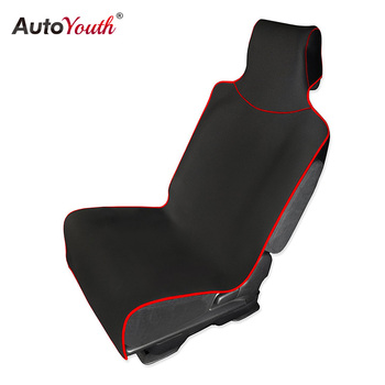 AUTOYOUTH Mobil Kursi Penutup dan Pelindung dengan Universal Fit untuk mobil Truk dan Suv Perlindungan Tahan Air Hitam dengan Garis Merah 1 PC
