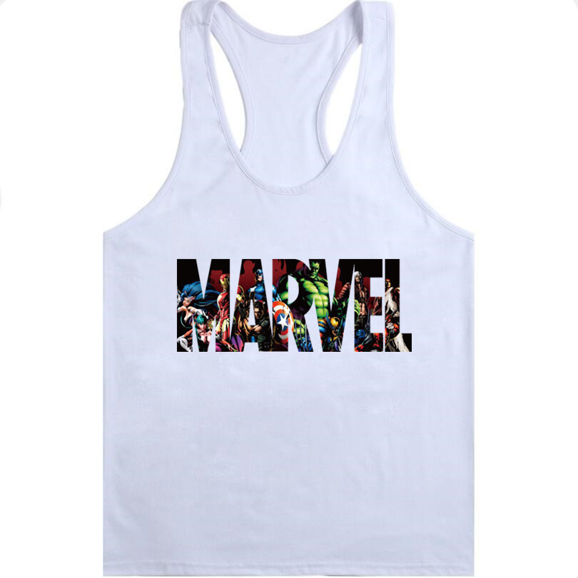 MARVEL Universal Men's Bodybuilding Fitness Tank Top Bodybuilding Sleeveless Brand Casual Shirts men's hot selling gyms vest