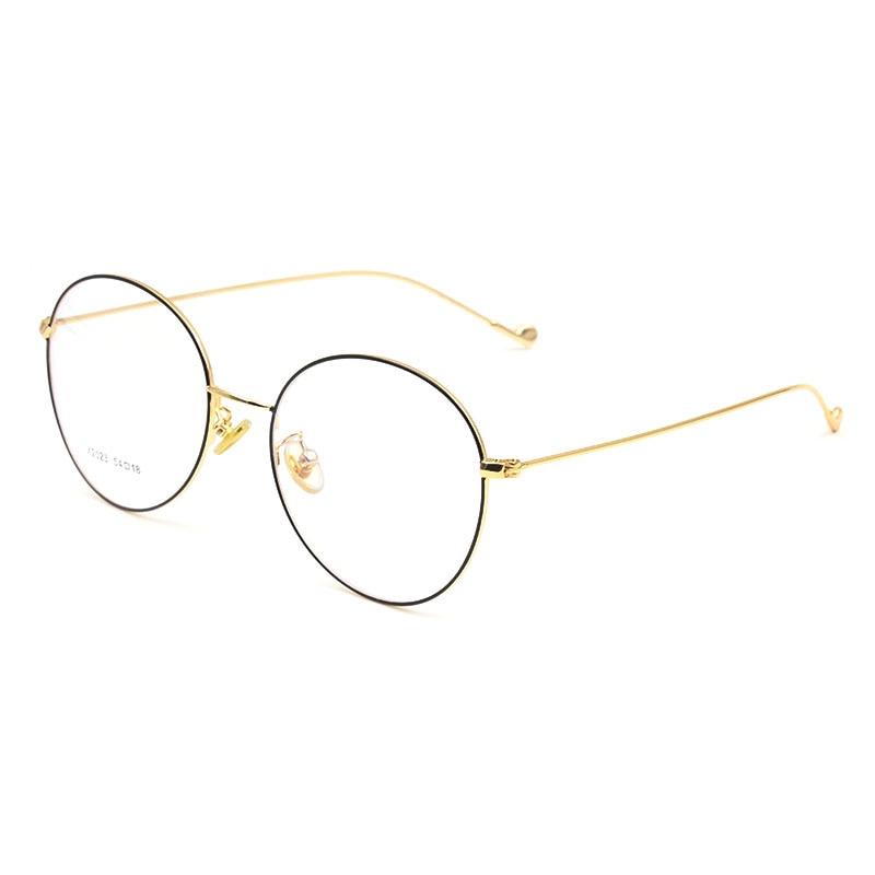 Vintage Style Women/Men Popular Round Metal Clear Lens Glasses Frame Trendy Unisex Anti-radiation Spectacles Frame X2023 Glasses