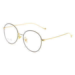 Image 1 - Vintage Style Women/Men Popular Round Metal Clear Lens Glasses Frame Trendy Unisex Anti radiation Spectacles Frame X2023 Glasses