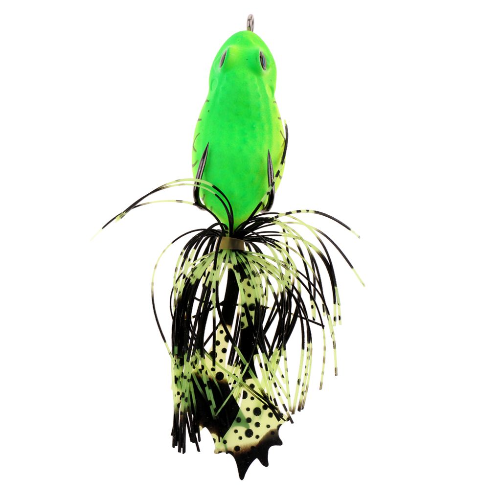 3D Frog Hard Fishing Lure Bait Floating Bass Pike Perch Catfish Snakehead NEW