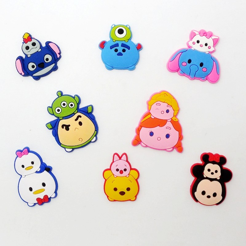 10PCS Cute Cartoon Flatback DIY Craft Charms Fit Wristbands/Clog/Phone Case/Hair Accessory Charms Kids Party Decoration
