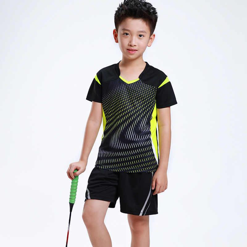 diseño profesional super popular varios estilos Estampado gratuito nombre niños bádminton ropa niña chándal ...