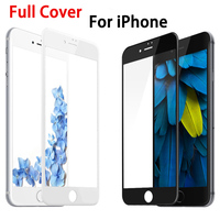 2.5D 9H Full Cover Tempered Glass for iPhone 6 6s Plus 5 5s SE 7 7 plus Phone Cover Screen Protector Colorful Toughened Film