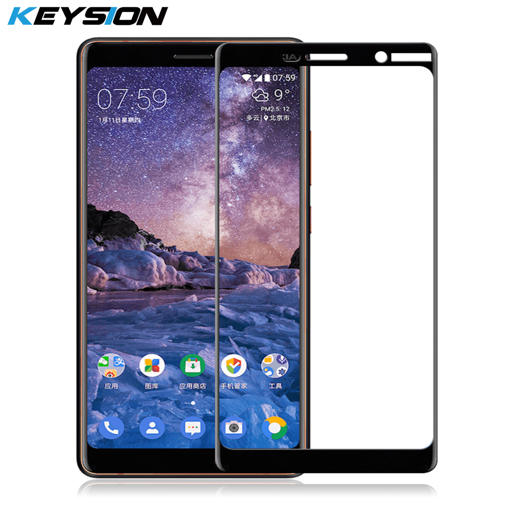KEYSION Tempered-Glass Nokia7-Plus Screen-Protector 7-Protective-Glass-Film For 7-plus/2.5d/Full-cover