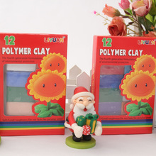 Manufacturers directly for polymer clay color mud 12 175 g set red box childrens hand DIY educational toys