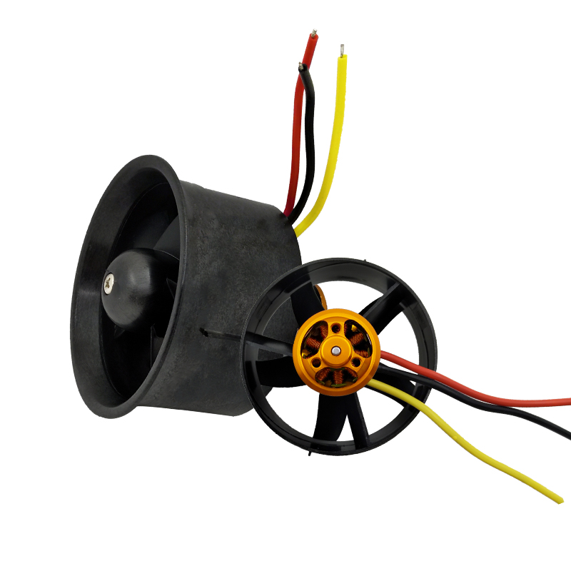 1set 64mm EDF Set QF2611-4500KV Motor with 5 Blades Ducted Fan for RC Airplane