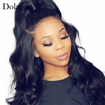 22x6x4 Body Wave 360 Lace Frontal Wig With Baby Hair 180% Density Brazilian 370 Lace Front Human Hair Wigs Dolago Remy