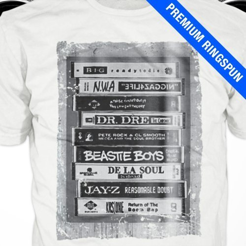 Hip Hop Tapes T-Shirt Classic 90S Rap Music Dj Tee Shirt Gift, Notorious Big Tribe 2019 New Cotton Men Clothing Best T Shirts image