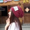 Femme skullies осень шапочки унисекс зима теплая вводная часть женщин шляпа женский вязаная шапка дамы капот