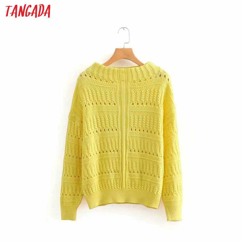 подробнее обратная связь вопросы о Tangada женщины желтый свитер